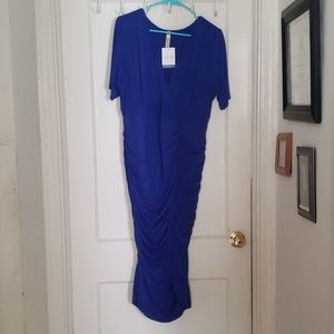 Beautiful blue rouched dress